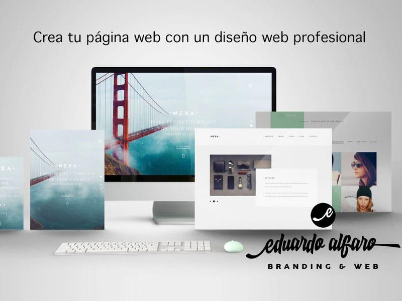 Crea tu página web con un diseño web profesional